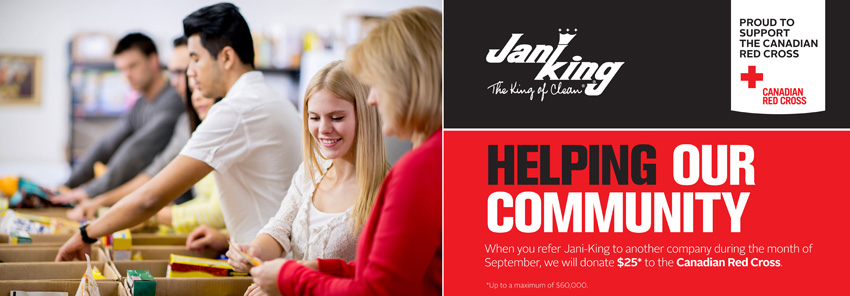 Jani-King Pledge   Proud To Support the Canadian Red Cross