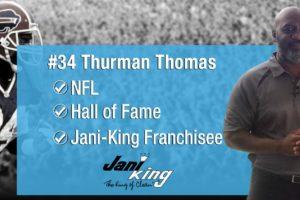 Thurman Thomas Jani-King Franchise Owner #34