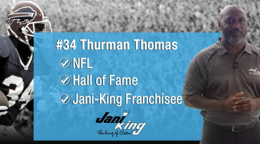 Jani-King Partners with Hall of Fame Franchisee Thurman Thomas